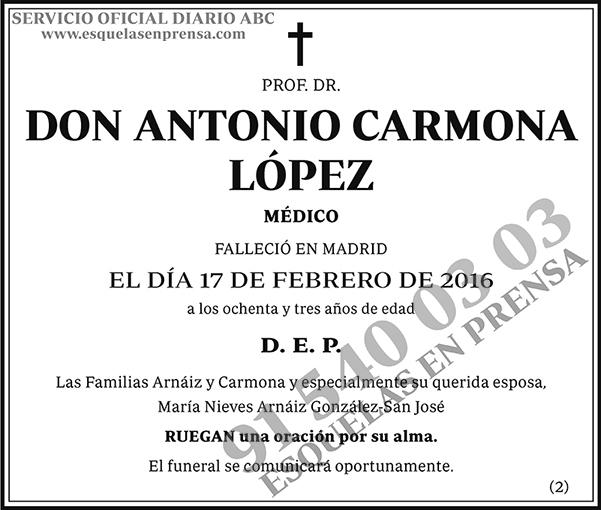 Antonio Carmona López